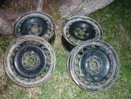 4 15IN. STEEL RIMS 5 LUG OFF 2012 VOLKSWAGEN JETTA