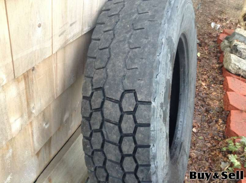 Heavy truck tires regrooved