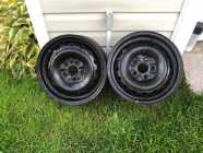 """14"""" Steel Rims, Set of Two"""