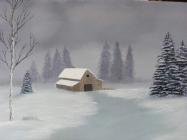 Original acrylic 16 X20 Bob Ross style painting on ...