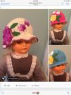 Little girls Cloche Hats. Hand crocheted. size 6 months ...
