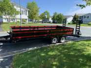 28 foot car trailer with 7500 lb winch
