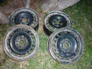 4 15IN STEEL RIMS (5X114.3) OFF 2003 NISSAN SENTRA