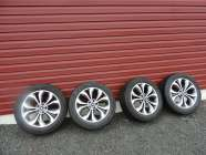 four alloy rims and tires to fit a Santa Fe, tire sizes ...