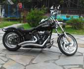 night train, many extra, vance and hines pipes, batwing ...