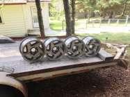 "Set of 15"" aluminum rims came off a Ford Explorer, ..."