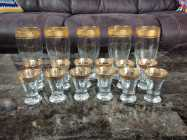 Beautiful Wine And Shot Glasses