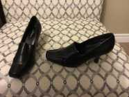 Black Ladies High Heels Size 7