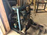 4 cylinder diesel motor with Mandrel and V belts