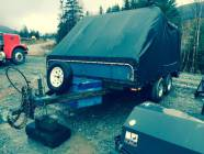 Tandem Axle Enclosed Double Snowmobile Trailer