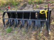"""Unused 78"""" Skid Steer Root Rake with Hydraulic Grapple"""