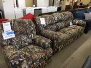 Camouflage Sofa and Rocker Recliner
