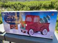 Christmas lawn truck