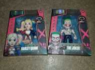 Diecast Harley Quinn and Joker toy figures