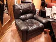 Free brown leather recliner