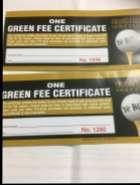 Green Fee Certificates