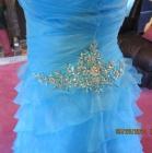 Beautiful Blue Grad Dress, with corset back.  Size ...