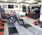 Heated motorcycle storage available