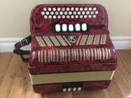 Hohner Club III M button accordion, CF.