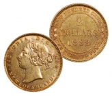 Newfoundland $2.00 gold coins, any year, any condition. ...