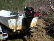 Mercury 75hp Outboard Motor.  etech 2 stroke;  '02; ...