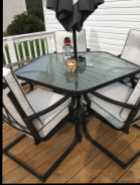 Patio table and 5 chairs set
