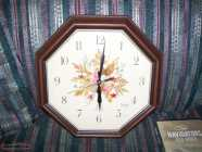 Real Wood Framed wall clock in excellent condition