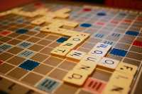 Scrabble Board Game, Playing pieces still sealed