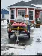 Skidoo and tilt trailer