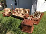 Solid Pine Chesterfield Set