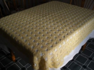 Home crochet tablecloth
